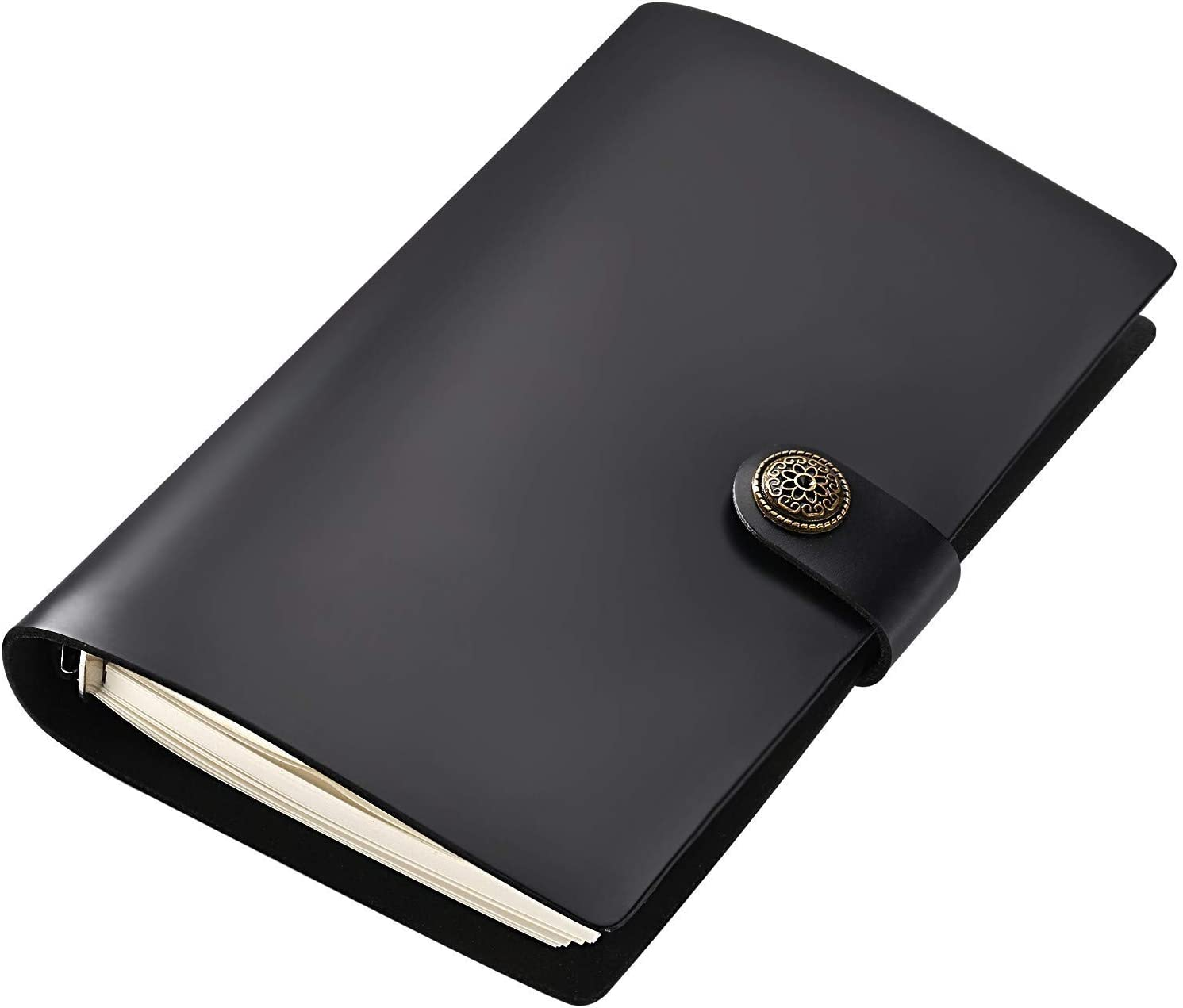 Recargable Cuaderno A6,Cuaderno Cuero Genuino,Diario de Viaje, Libreta Natural,Libretas Bonitas Cuero Real,Regalos para Escritores Hombre,Cuadernos
