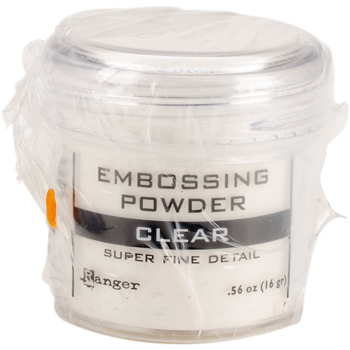 Clear embossing powder