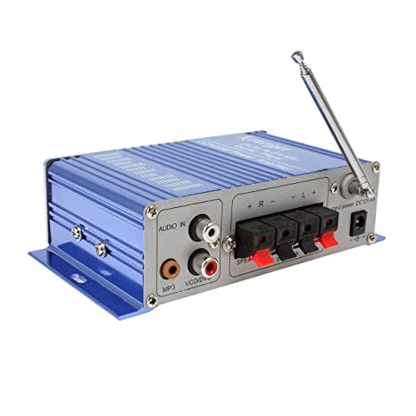 WINGONEER 12V Hi-Fi Stereo amplificador de audio digital de DVD USB SD FM estéreo audio MP3 de radio del coche del altavoz de Bluetooth Amplificador HiFi: ...