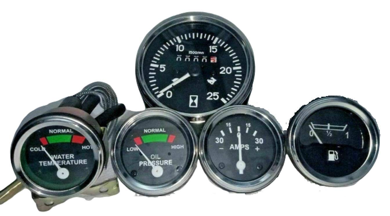 Massey Ferguson Traktor Messgeräte Set Tachometer Öldruck Temperatur Kraftstoff Amperemeter Passend Für Mf35 Mf50 Mf65 Mf135 Mf150 165 Gewerbe Industrie Wissenschaft