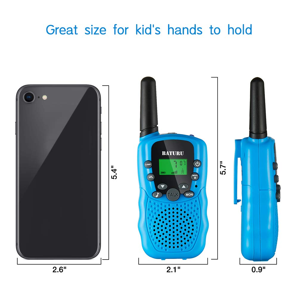 SANJOIN Walkie Talkies, Walkie Talkies for Kids, 22 Channels 2 Way Radios Walkie Talkies with Backlit LCD Flashlight, 3 Mile Range Kids Walkie Talkies for Outside Adventures, Camping, Hiking - 3 Pack by SANJOIN (Image #6)