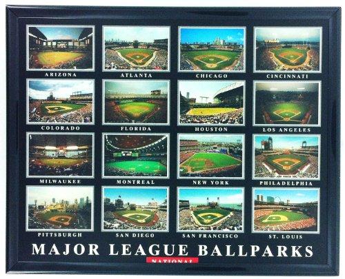 Framed Baseball National Major League Ballparks Aerial Print F7545A