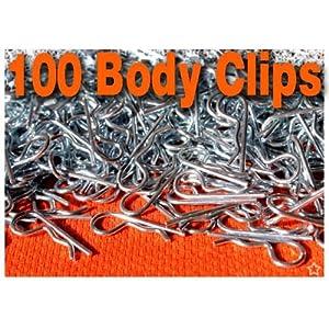 100 - 10th RC Body Clips Pins Traxxas tMaxx Revo Rustler Slash Stampede eMaxx