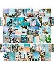 TROOPIC - 50 foto's voor aesthetic wanddecoratie - Zomerstrandcollectie - Matte afwerking - 10,2 x 15,2 cm - Dikte 300 g / m2 - Esthetische fotocollage aan de muur -