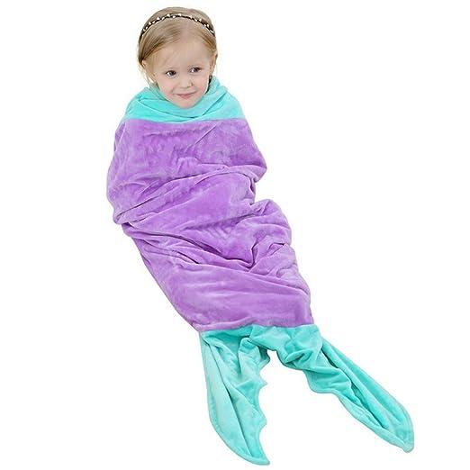 ARAUS Sacco A Pelo Neonato Bambino Cotone a Forma di Sirena Morbido Comodo  Coperta per Divano 92185108c7e4