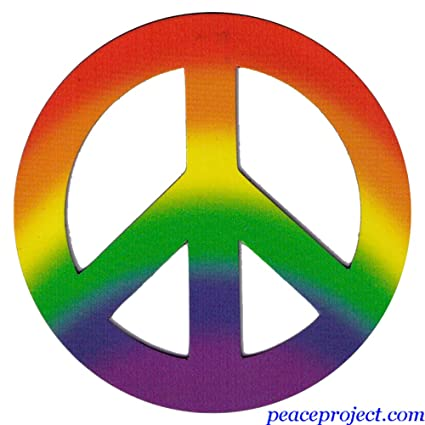 Amazon Peace Project Rainbow Colors Peace Sign Vehicle