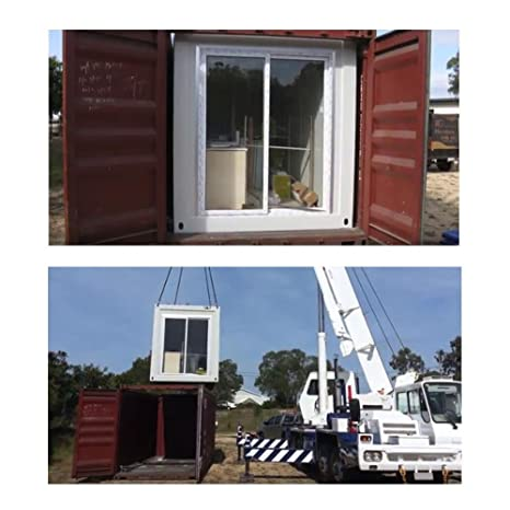 weizhengheng desmontable Contenedor casa con luz Marco de acero galvanizado caliente: Amazon.es: Hogar