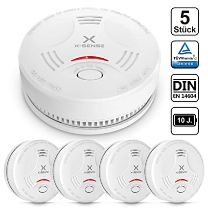 Alarma de Humo X-SENSE SD11, Detector Fotoeléctrico de Humo con Alarma de Incendio Inteligente, 10 Años de Duración de la Batería y Chequeo ...