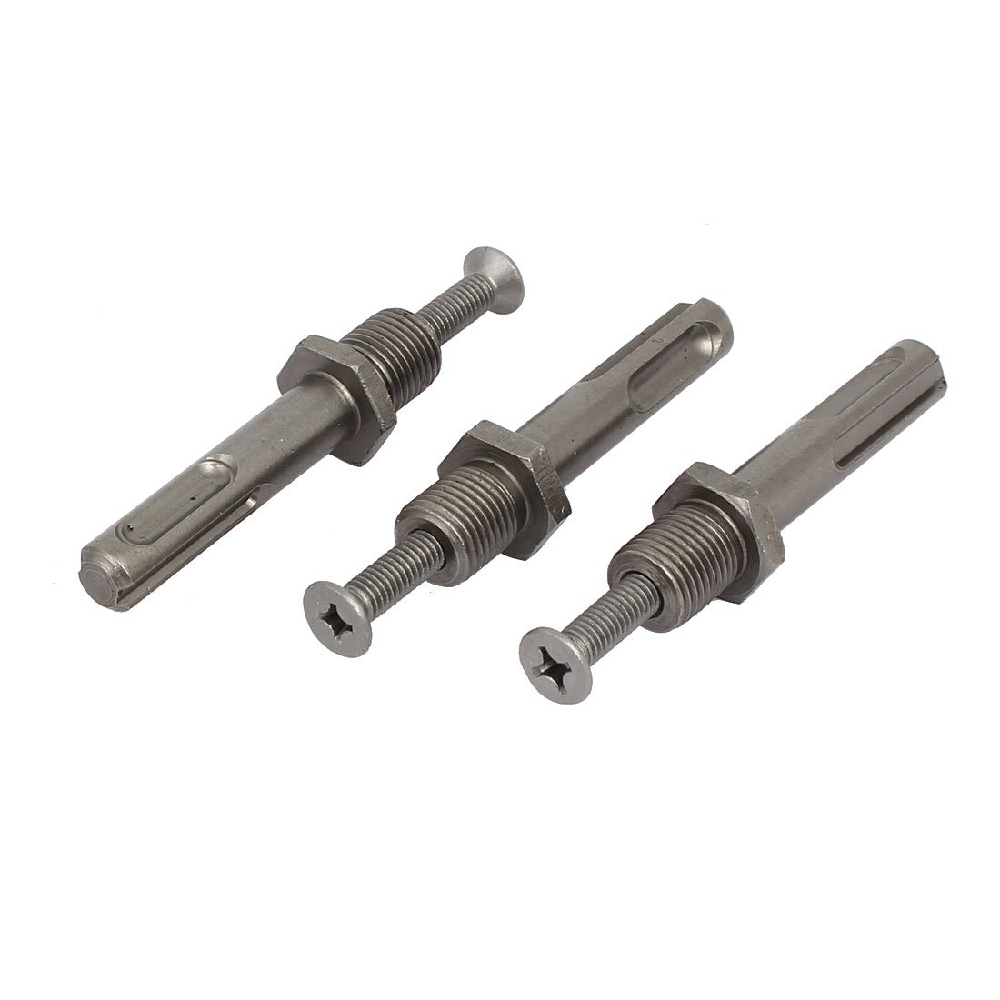 Aexit 12mm Thread Drill Presses Diameter SDS Plus Shank Drill Chuck Adapters Benchtop Drill Presses Connector 3pcs