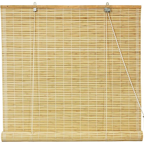 Natural Bamboo Construction Roll Up Blinds, 36
