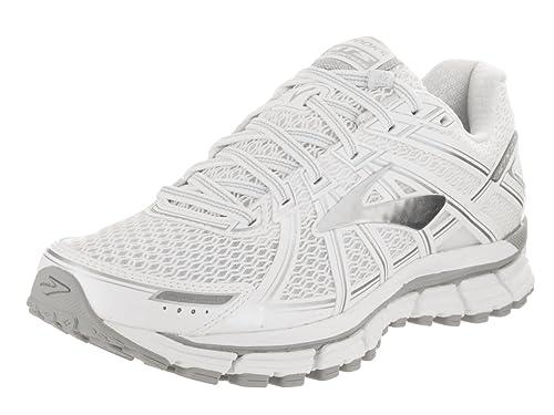 3f94b27c2aa94 Brooks Women s Adrenaline GTS 17 White Silver Running Shoe 10 Women US   Amazon.in  Shoes   Handbags