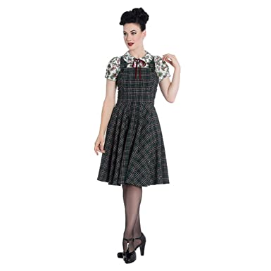 880fe9a0ee Hell Bunny Women s Peebles Pinafore Dress - X-Small