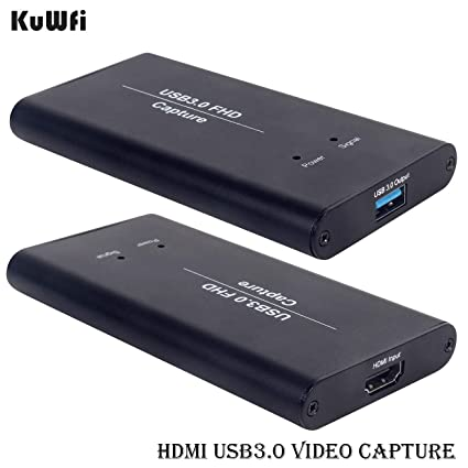 KuWFi Video Capture Device Card HDMI to USB3 0 HD Video Converters Game  Streaming Live Stream Broadcast 1080P OBS/Vmix/Wirecast/skype