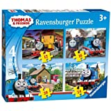 Character Thomas & Friends '4 In a Box' 12 16 20 24 Piece 4 Jigsaw Cardboard Puzzle