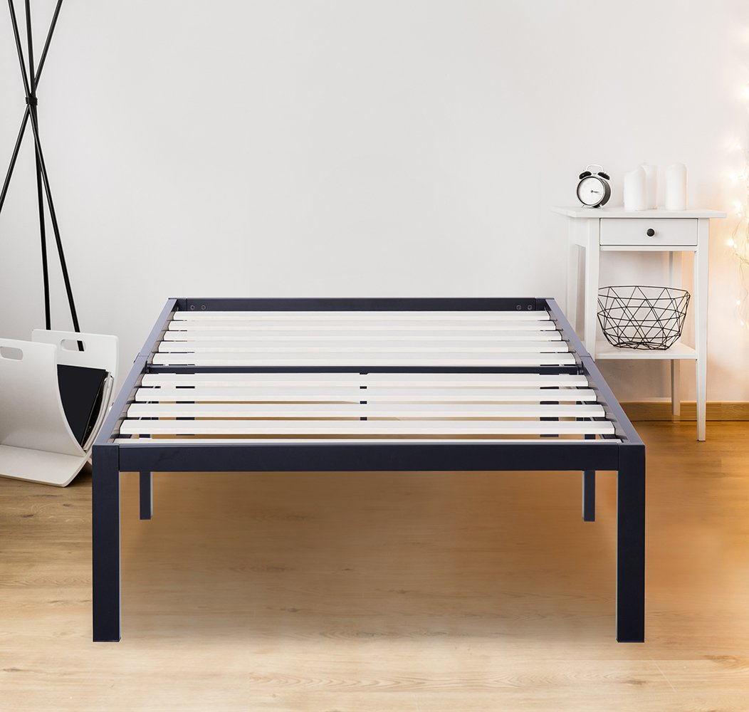 SLEEPLACE SVC14BF06T 14 Inch ST-3000 Ultra 3 Inch Wood Slat Bed Frame, Twin