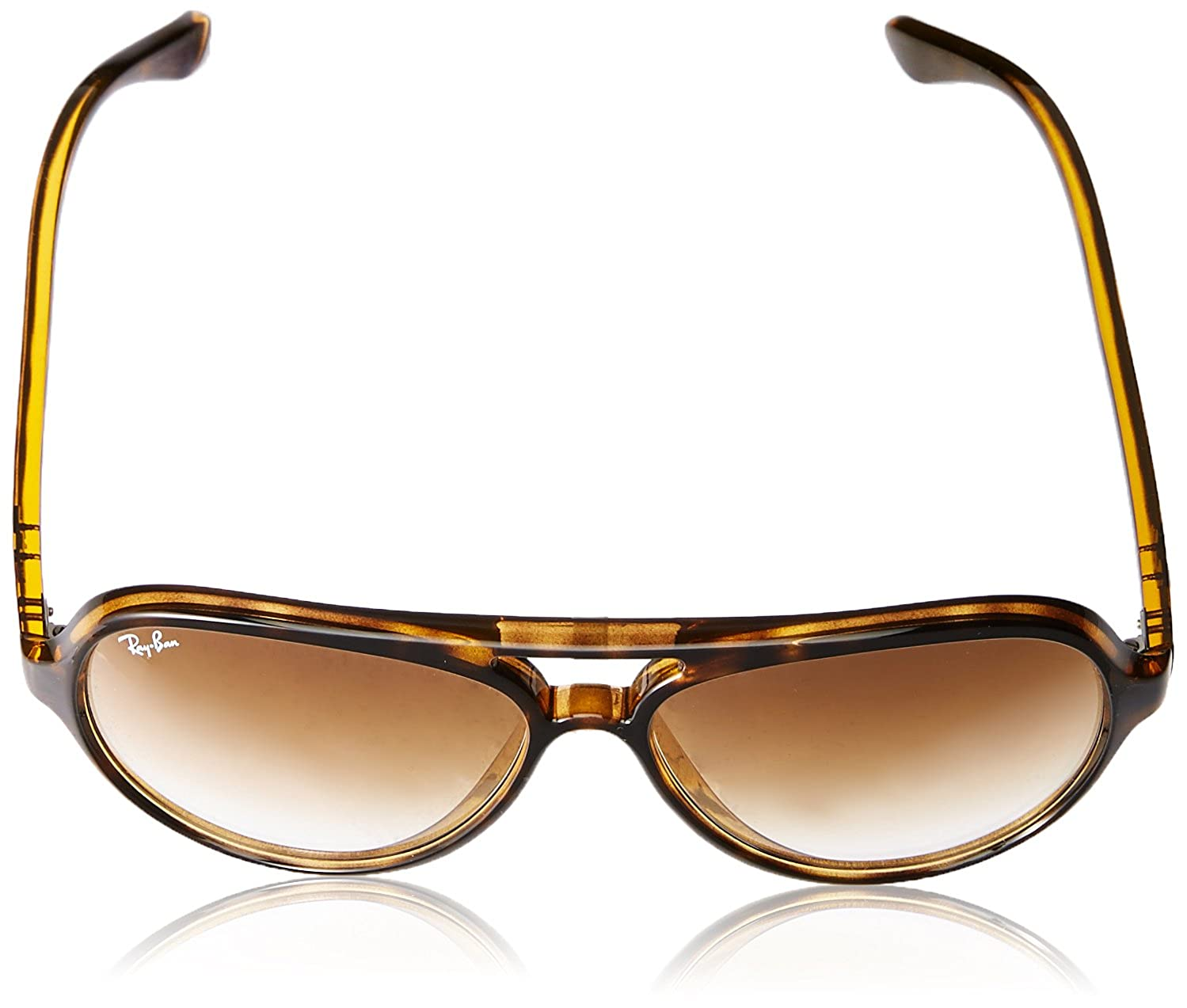938da70fe35 Amazon.com  Ray-Ban Unisex Adult CATS 5000 Aviator Sunglasses in Light  Havana Crystal Brown Gradient RB4125 710 51 59  Clothing
