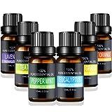 Aceites Esenciales de Aromaterapia - Pesoo 100% de Aceite Esencial Natural Conjunto de Difusores y Humidificadores con Caja d