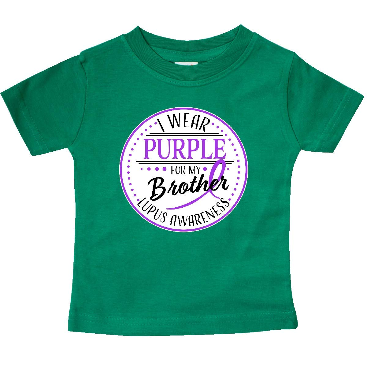 Lupus Awareness Baby T-Shirt inktastic I Wear Purple for My Brother