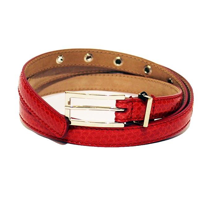 Dolce   Gabbana - Ceinture - Femme Rouge rouge 100 cm  Amazon.fr ... 6ad28a6ea5d