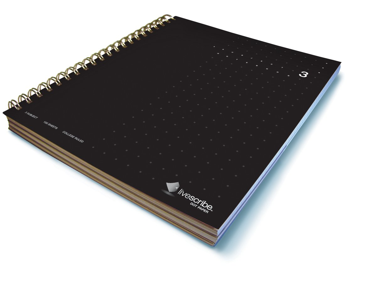 Livescribe 8.5 x 11 3-Subject Notebook #3 (Black) by Livescribe (Image #1)