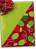 24'' X 100' #x6332 Christmas Bulbs (Rever) - Gift Wrap