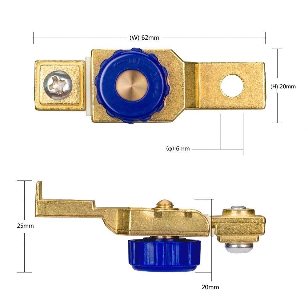 DC12V 80A Interruptor de bater/ía de motocicleta corte apagado terminal de la matanza Interruptor antifugas