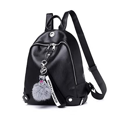 23b700addf93 Amazon.com  Women Backpack Purse Waterproof Soft and Lightweight PU Leather  Cute Casual School Shoulder Bag  Shoes