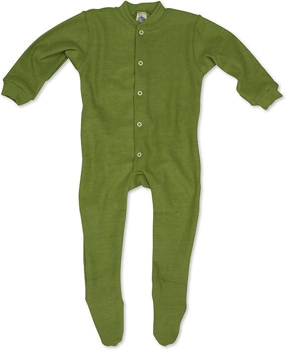 Cosilana Baby Strampler mit Fu/ß aus weichem Woll-Frottee 100/% Schurwolle kbT