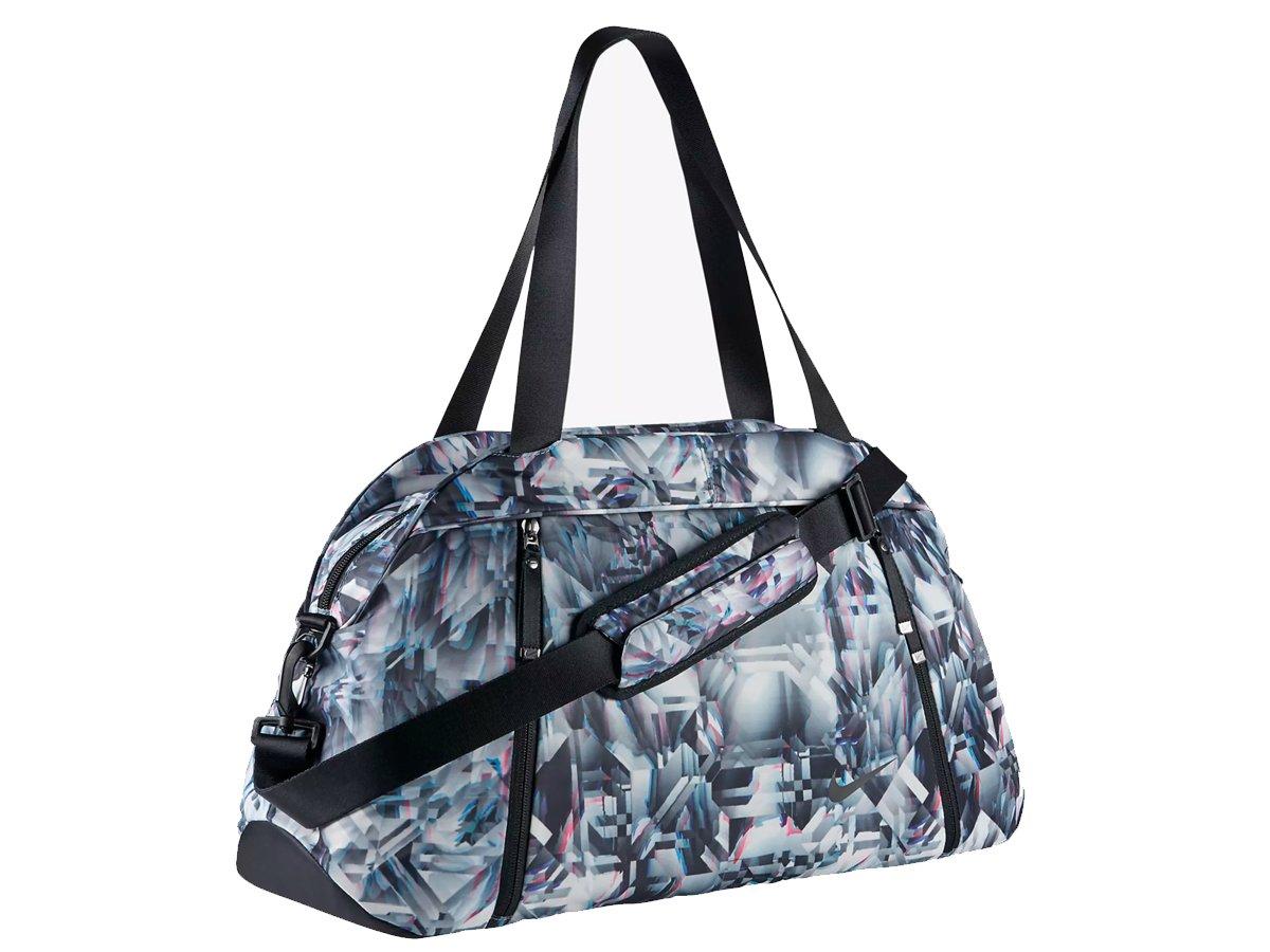eee4da02a4 Nike W NK Aura club-print, Women Training Bag, women's, W Nk Aura Club -  Print, Cerulean/Black/Black, One Size: Amazon.co.uk: Sports & Outdoors