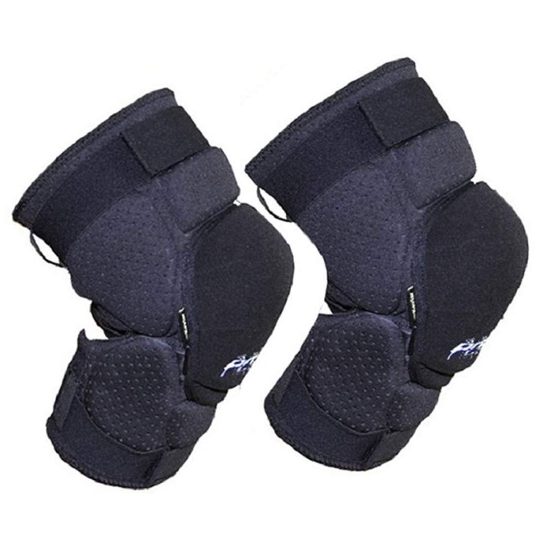 CAFUTY Kneepad Elbow Set オートバイサイクリング保護装置 スキーローラースケート保護装置セット (Color : ブラック, サイズ : M) Medium ブラック B07L4JQYMH