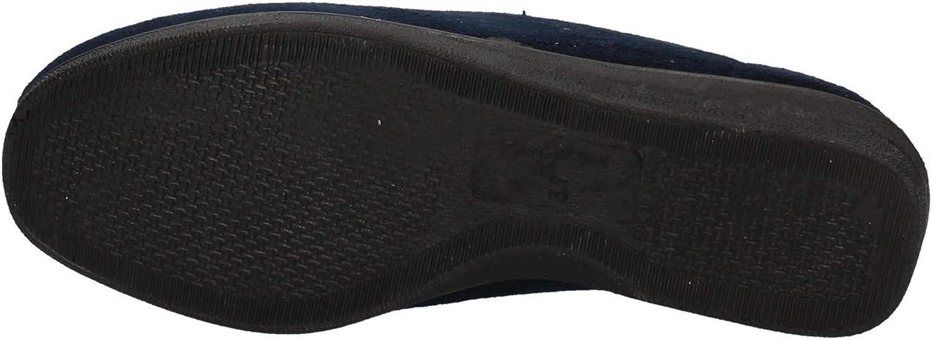 VALLEVERDE 23225 pantofola mocassini scarpe donna panno blu