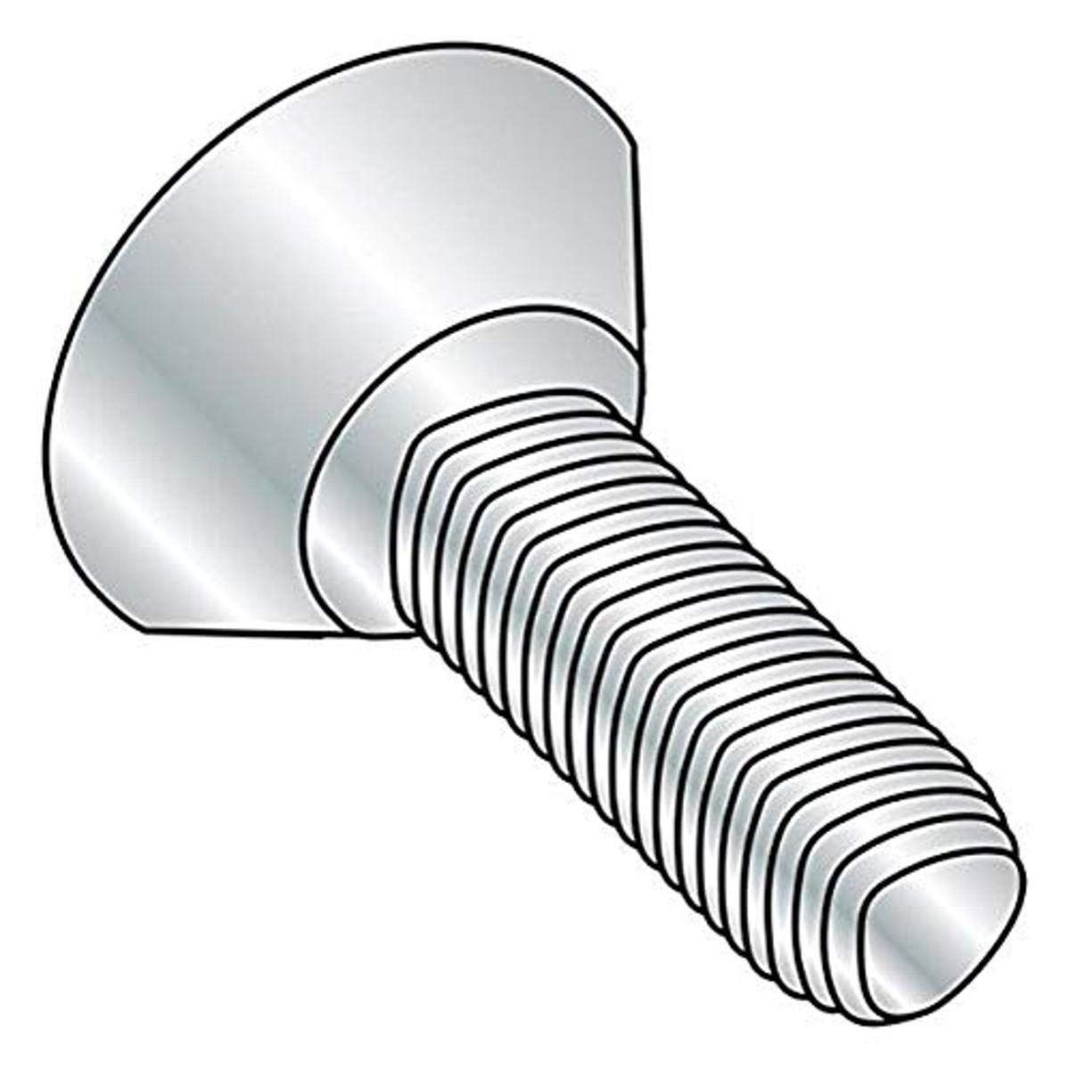 Zinc Plated #12-24 Thread Size 82 Degree Flat Undercut Head Steel Thread Rolling Screw for Metal Pack of 100 Phillips Drive 3//4 Length