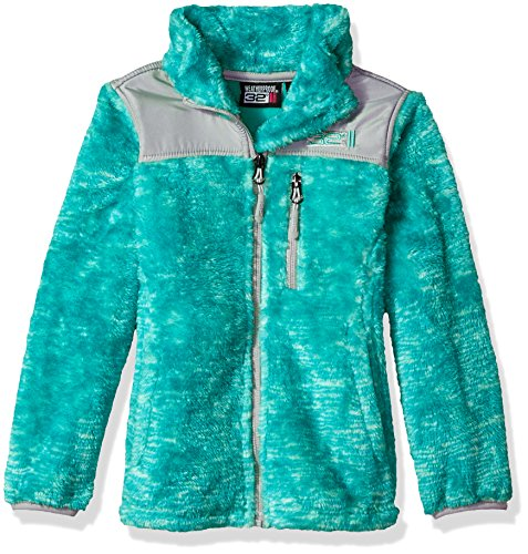 32 DEGREES Weatherproof Big Girls Outerwear Jacket (Extra Styles Obtainable), Space Dye-WG197-Mint, 14/16 – DiZiSports Store