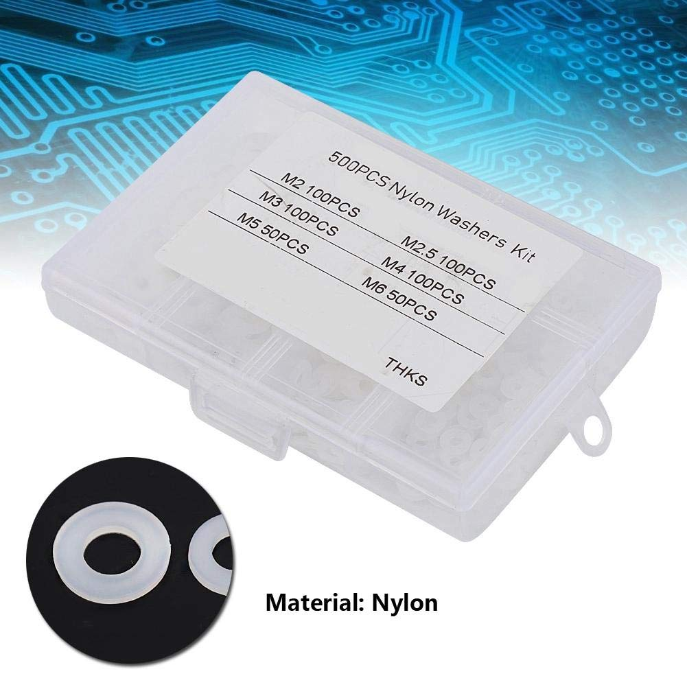 500 Strong Nylon gaskets White Load dispersible Spacer wear Pads for wear Pads Low Vibration Flat washers