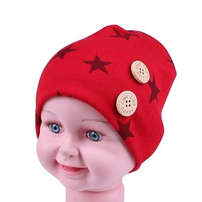 Leewa@ Newborn Children Warm Winter Five-pointed Star Cotton Hats