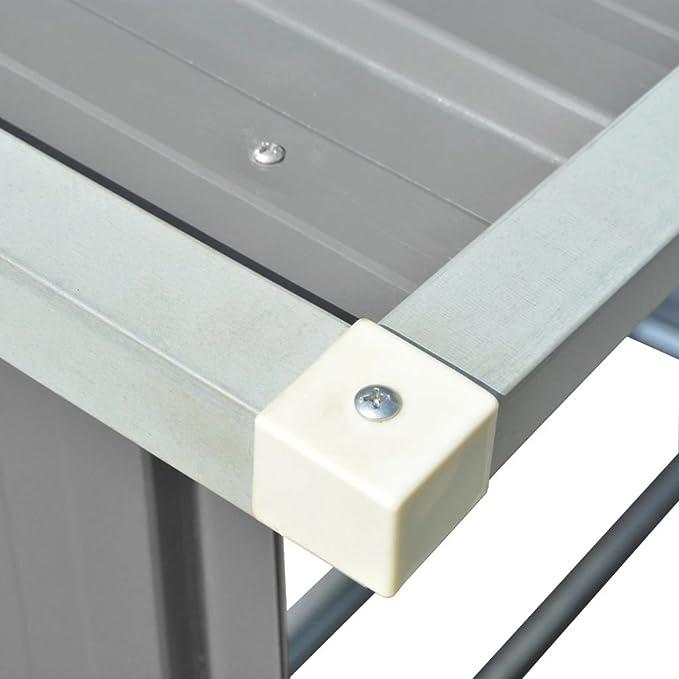 vidaXL Casetilla para Leña/Madera de Material Acero Galvanizado de Color Gris: Amazon.es: Bricolaje y herramientas
