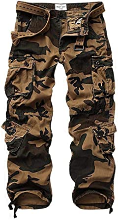 Mens Military Combat Trousers Camouflage Cargo Camo Army Casual Work Pants 2020