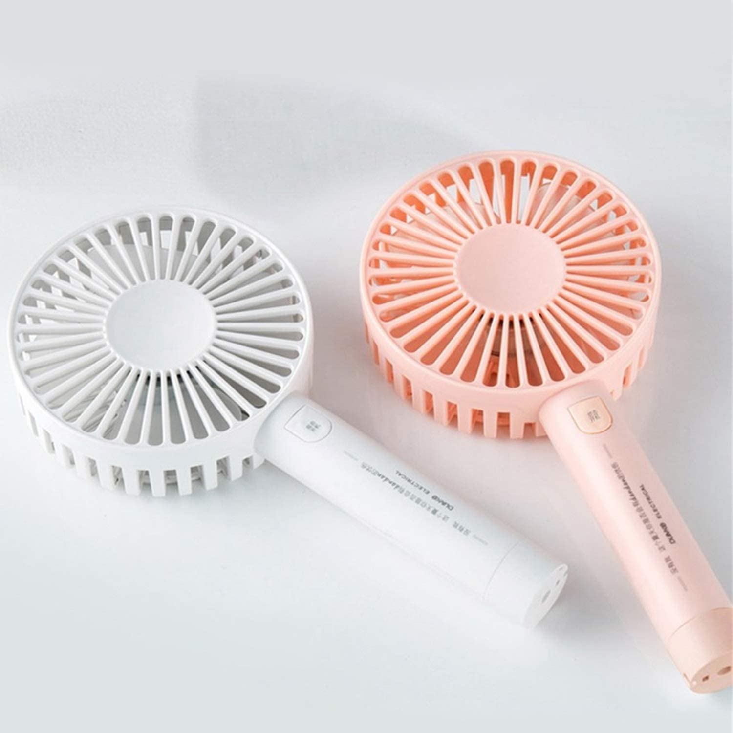 Air Cooling Fan USB Mini Fan 3 Gear Wind Portable Handheld Round Fan Outdoor Cooling Fan Two Modes Optional Color : White, Size : 01
