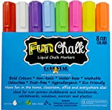 Chalk Markers with Reversible Tip - Ideal for Blackboards, Windows, Non-porous Chalkboards, Whiteboards, Plastics, Bistro Boards, Mirrors, Teachers, Kids, Arts and Crafts, Office and More - Odor Free, Non-toxic Neon Liquid Chalk Pens - Bold Colors & White Ink – 8 Pack