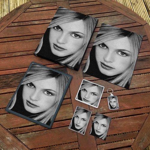 Heather Graham - Original Art Gift Set #js002 (Includes - A4 Canvas - A4 Print - Coaster - Fridge Magnet - Keyring - Mouse Mat - Sketch Card)