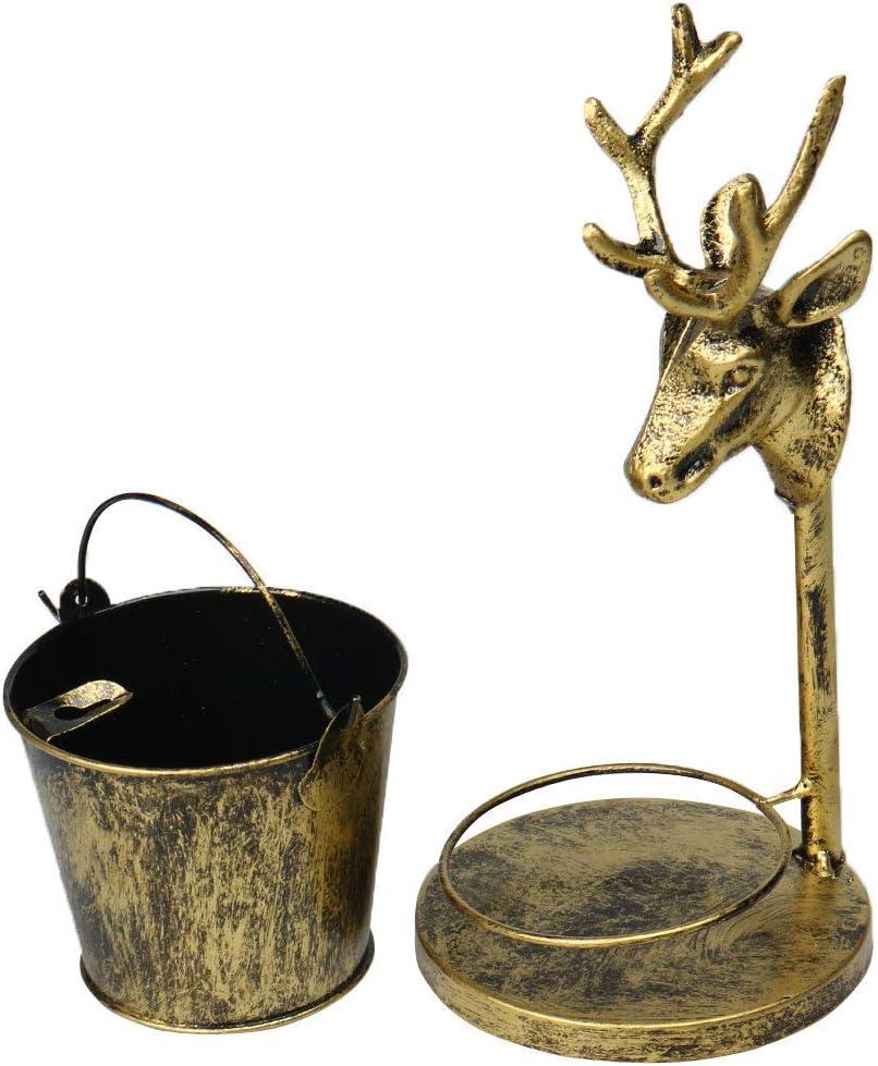 N//A Aschenbecher Winddicht Hirschkopf Edelstahl Vintage Aschenbecher Aschenbecher Aschenbecher Aschenbecher im Freien Innenbereich Dekoration
