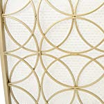 Veritas Single Panel Gold Iron Fireplace Screen by GDF Studio