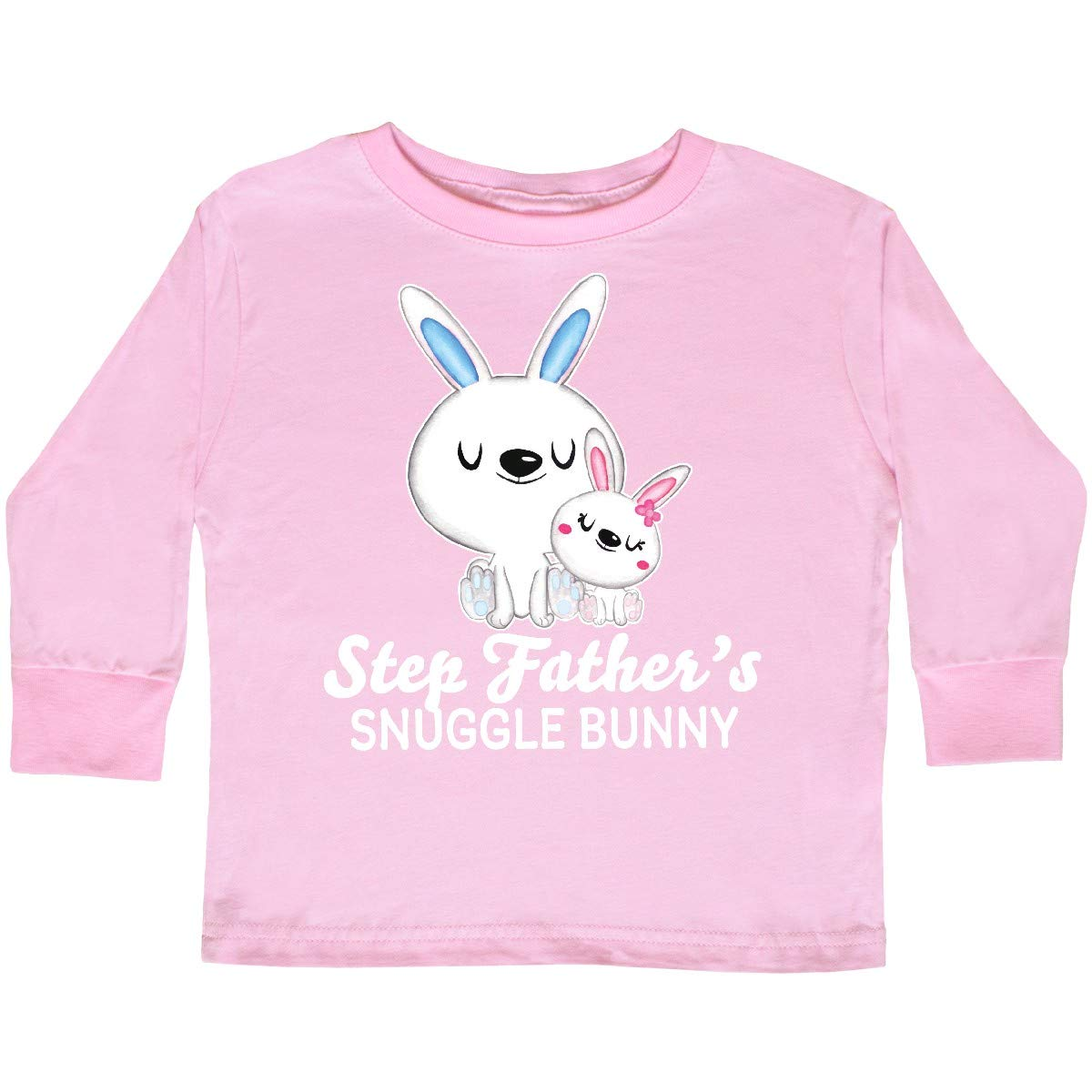 inktastic Step Fathers Snuggle Bunny Easter Toddler Long Sleeve T-Shirt