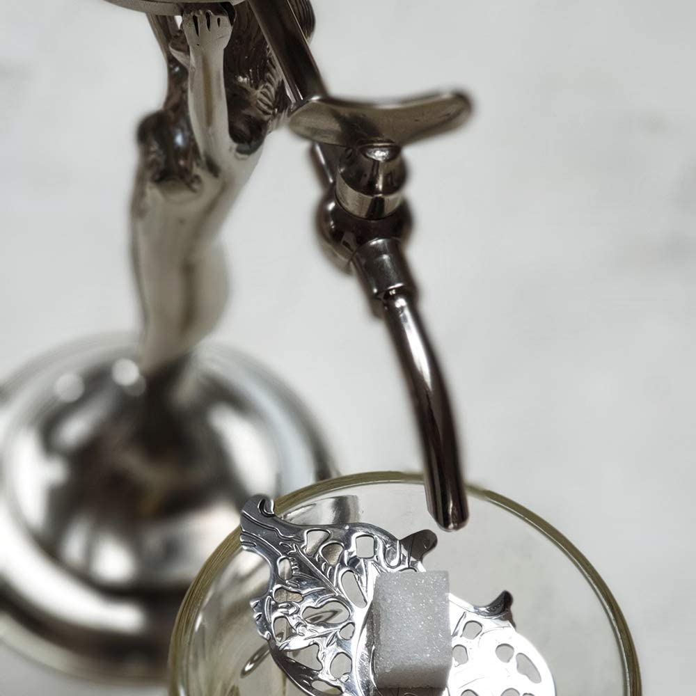 smaller reproduction of the most famous absinthe fountain style Lady Absinthe Fountain with two metal taps