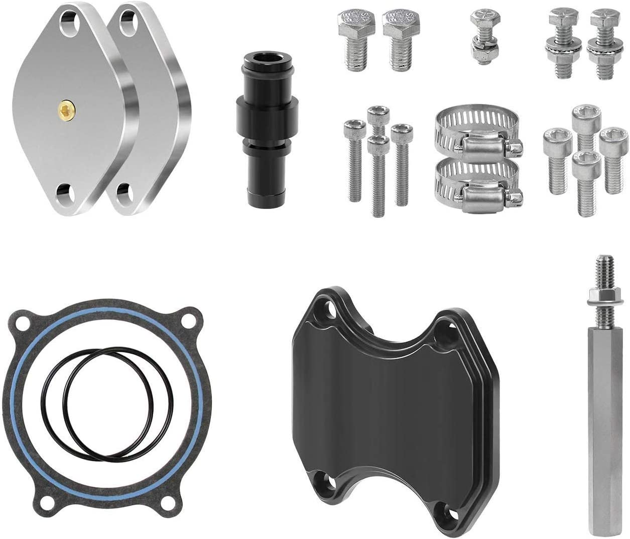 2010-2017 W//TVD MKING Engine Parts MKING EGR Valve and Throttle Valve Kit Dodge Cummins 6.7 6.7L 2010-2017 EGR Valve and Throttle Valve Kit Dodge Cummins 6.7 6.7L 2010-2017