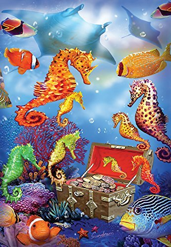 Seahorse Treasure a 100-Piece Jigsaw Puzzle by Sunsout Inc. by SunsOut