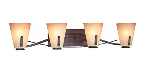 Volume Lighting Lodge Light Frontier Iron Bathroom Vanity Vanity - Iron bathroom light fixtures