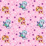 Paw Patrol Gals Anti-Pill Fleece Fabric By The Yard
