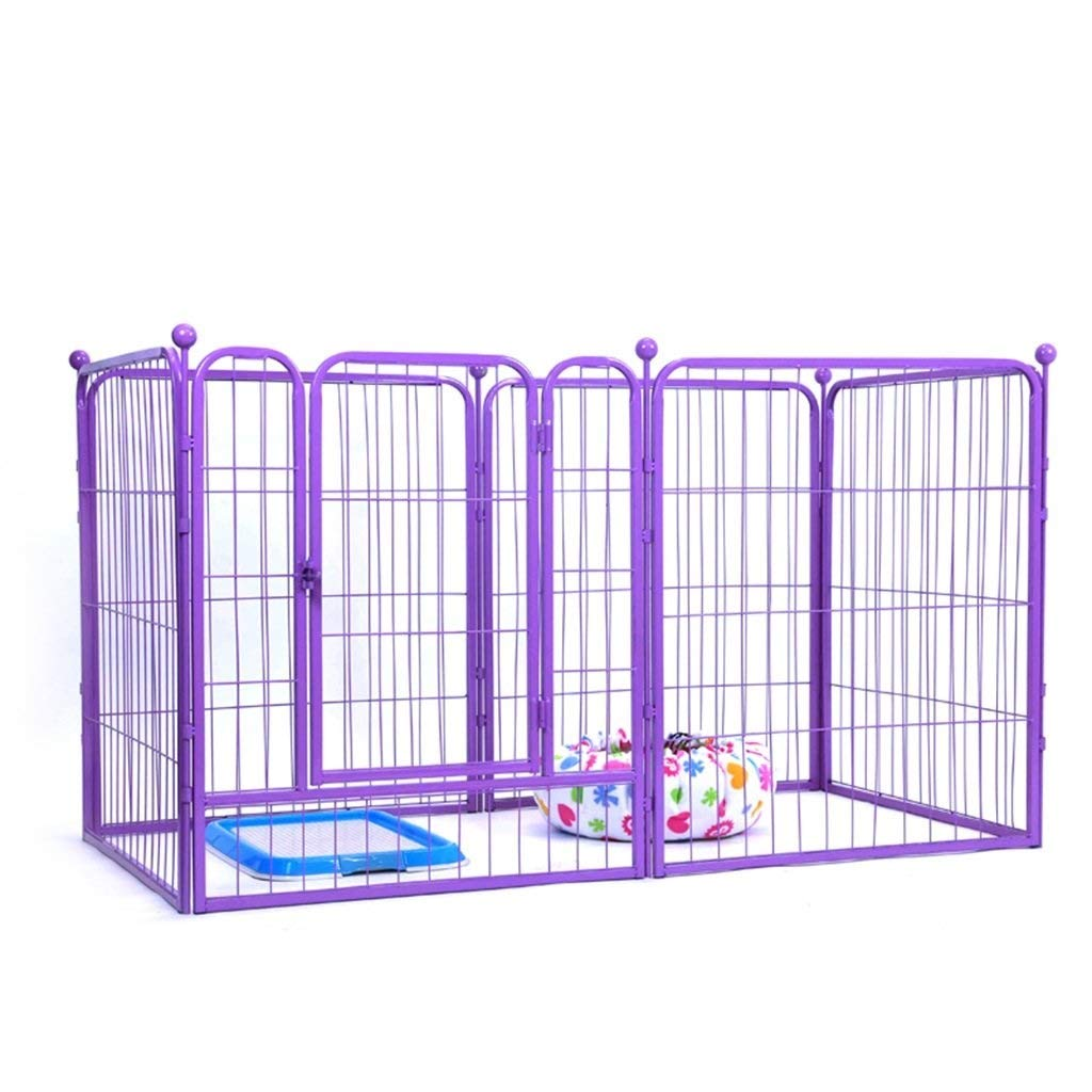 1407080CM CAOYU Pet fence Heavy-duty 6-panel shell dog pet cat pen cage puppy playing fence running large 80 x 100 cm (Size   140  70  80CM)