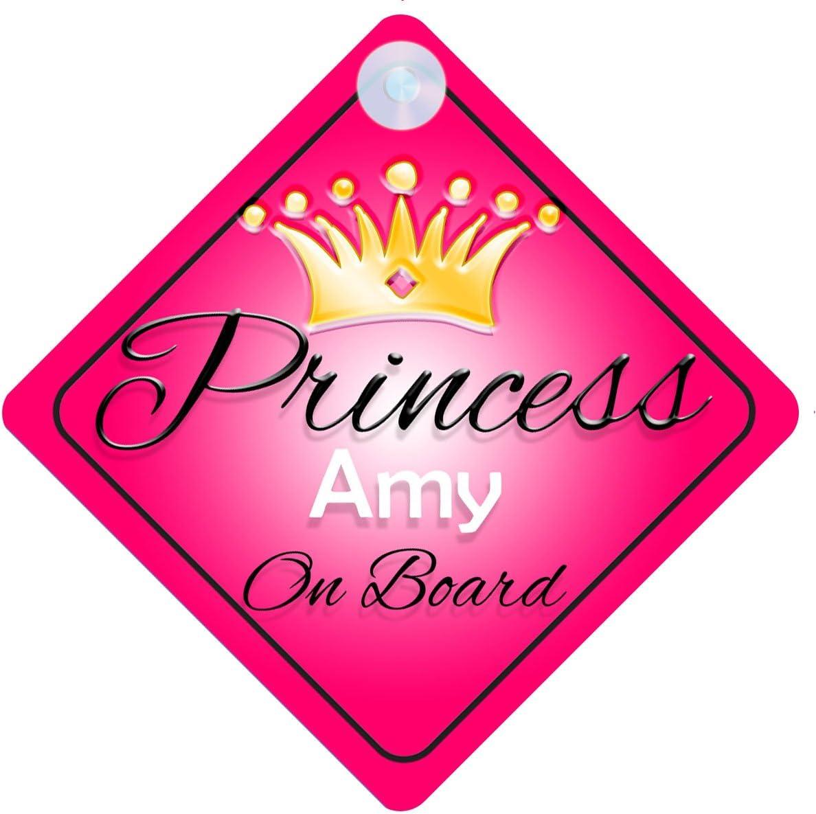 Principessa Amy on Board personalizzato Girl Car Sign Baby//child Gift 001